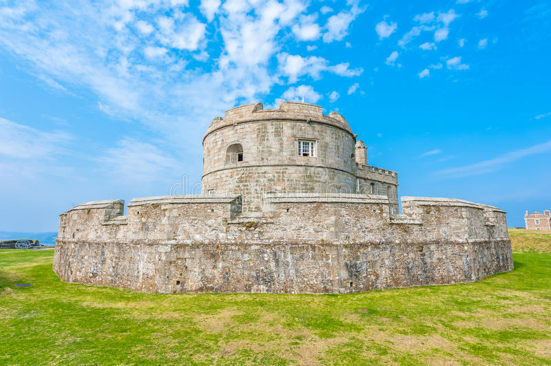 Pendennis Castle keep. Pendennis Castle located on the west side of the River Fal near Falmouth in Cornwall, England, UK stock photography