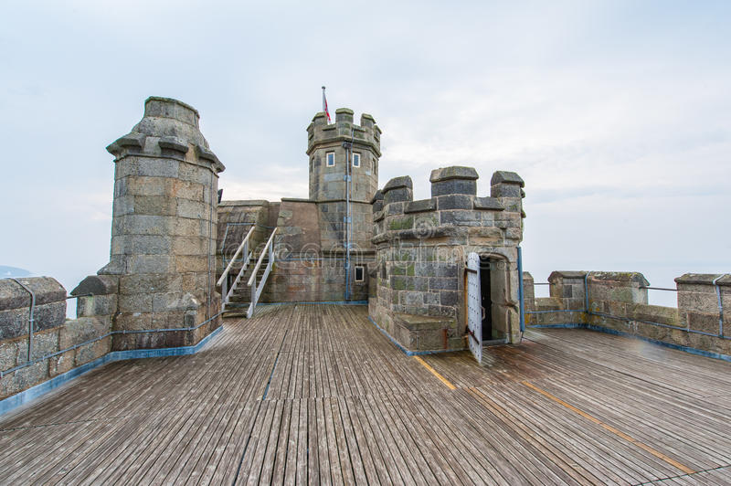 Pendennis Castle keep. Top of the Pendennis Castle keep near Falmouth, England royalty free stock image