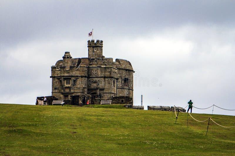 Pendennis slott, Falmouth, Cornwall, England arkivfoton