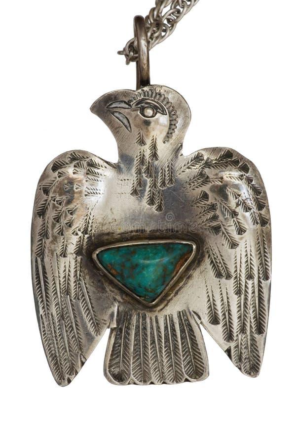 Pendente de prata de Thunderbird foto de stock