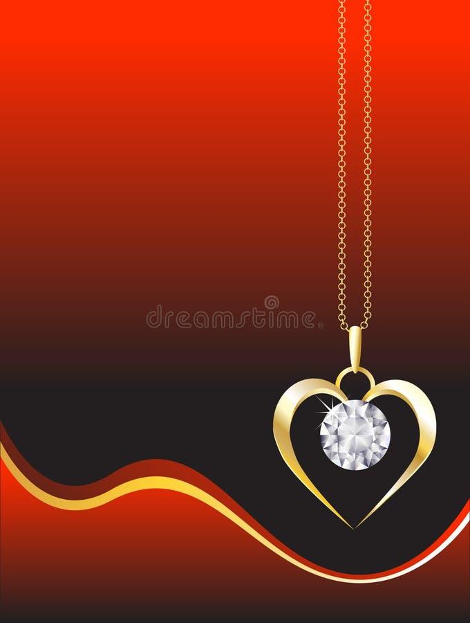 Pendente del diamante illustrazione vettoriale