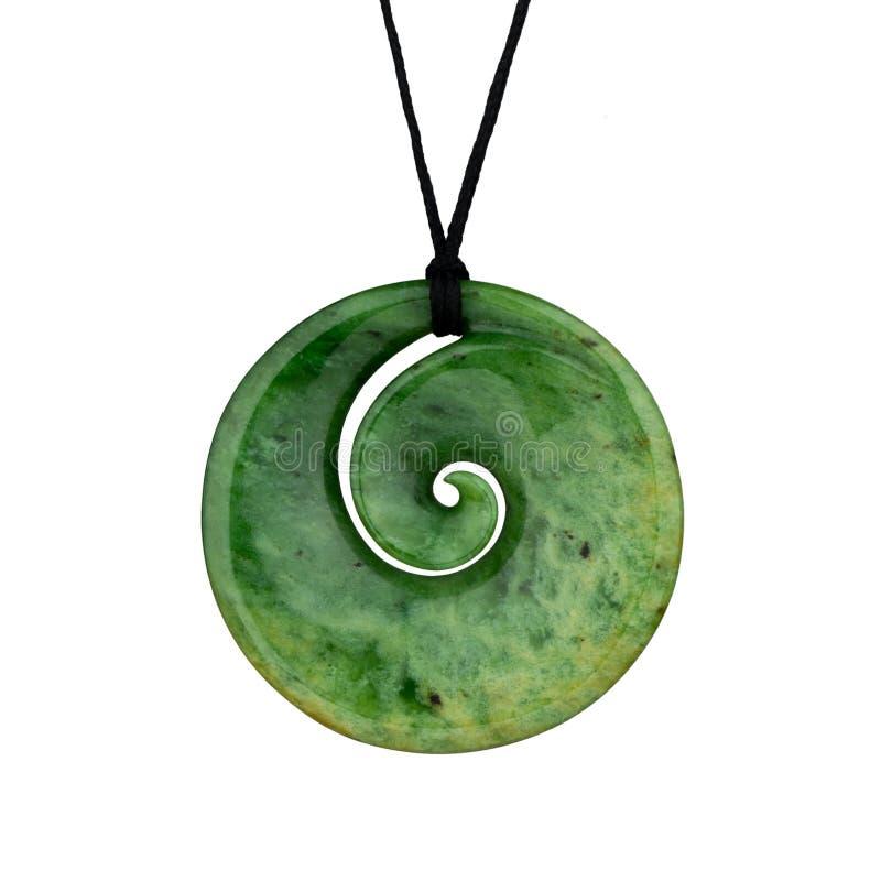 Pendente maori do jade da nefrita de Nova Zelândia fotos de stock