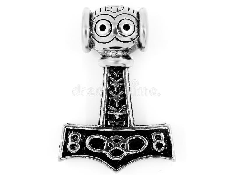 Pendente Viking Hammer dei gioielli Acciaio inossidabile fotografia stock