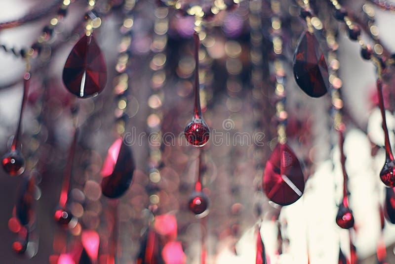 Pendentes de vidro abstratos fotografia de stock royalty free