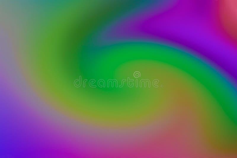 Pendenza bassa di contrasto del fondo di arte della pittura lilla verde variopinta di rosa fotografia stock