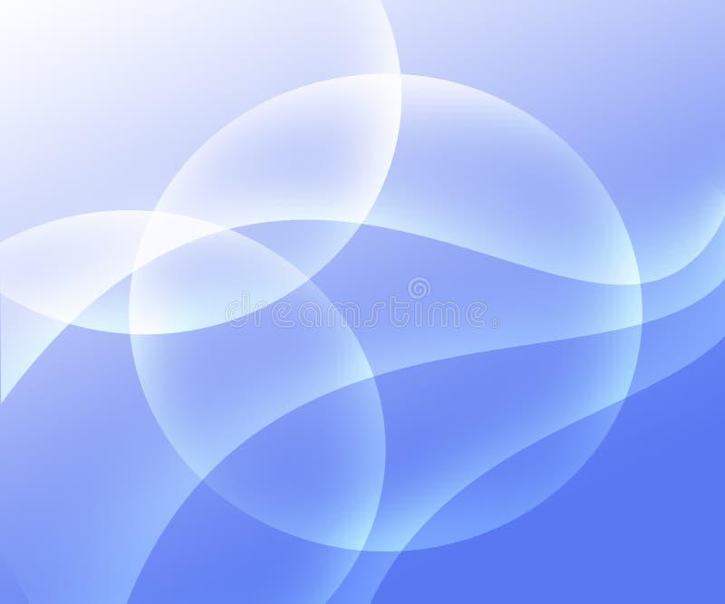 Pendenza blu-chiaro e bianca del fondo dell'estratto con i cerchi illustrazione vettoriale
