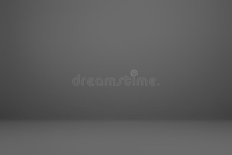 Pendenza grigio scuro e nera di lusso astratta con il nero v del confine illustrazione vettoriale