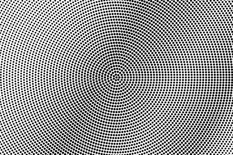 Pendenza punteggiata diagonale ruvida bianca nera Fondo del semitono Semitono punteggiato a fondo grigio royalty illustrazione gratis