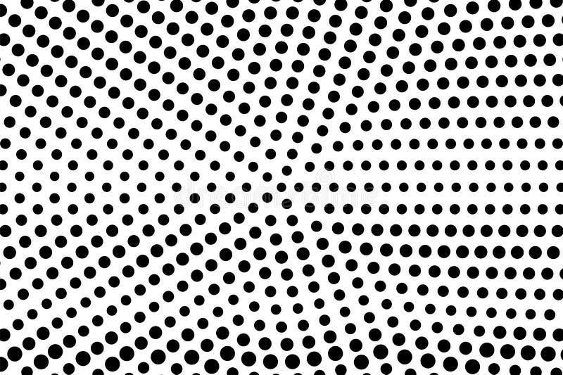 Pendenza punteggiata sbiadita rada bianca nera Fondo del semitono illustrazione vettoriale