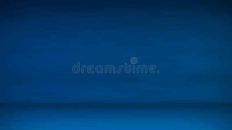 Pendenza regolare dell'estratto blu dello studio per la visualizzazione dei prodotti fotografia stock