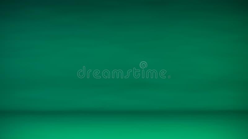 Pendenza regolare dell'estratto verde dello studio per la visualizzazione dei prodotti fotografia stock libera da diritti