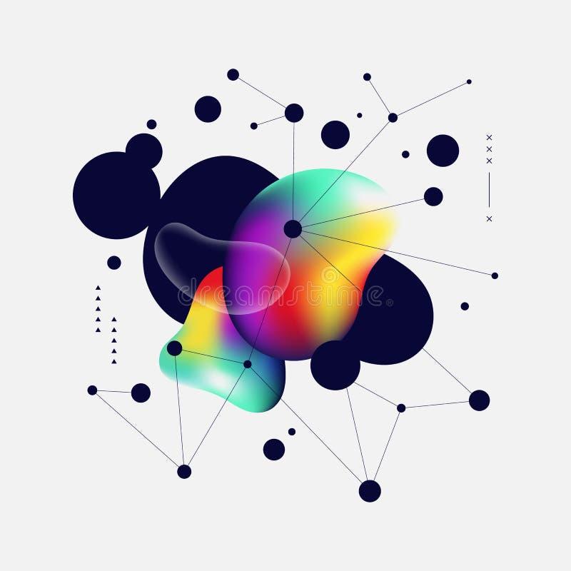 Pendenza variopinta astratta e linea geometrica fondo di arte illustrazione vettoriale