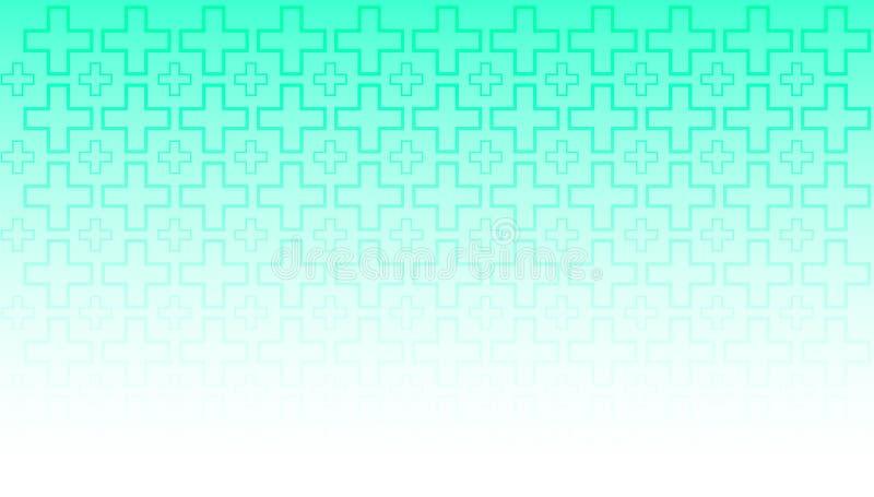 Pendenza verde bianca della carta da parati lineare di progettazione di vettore del fondo medico illustrazione vettoriale