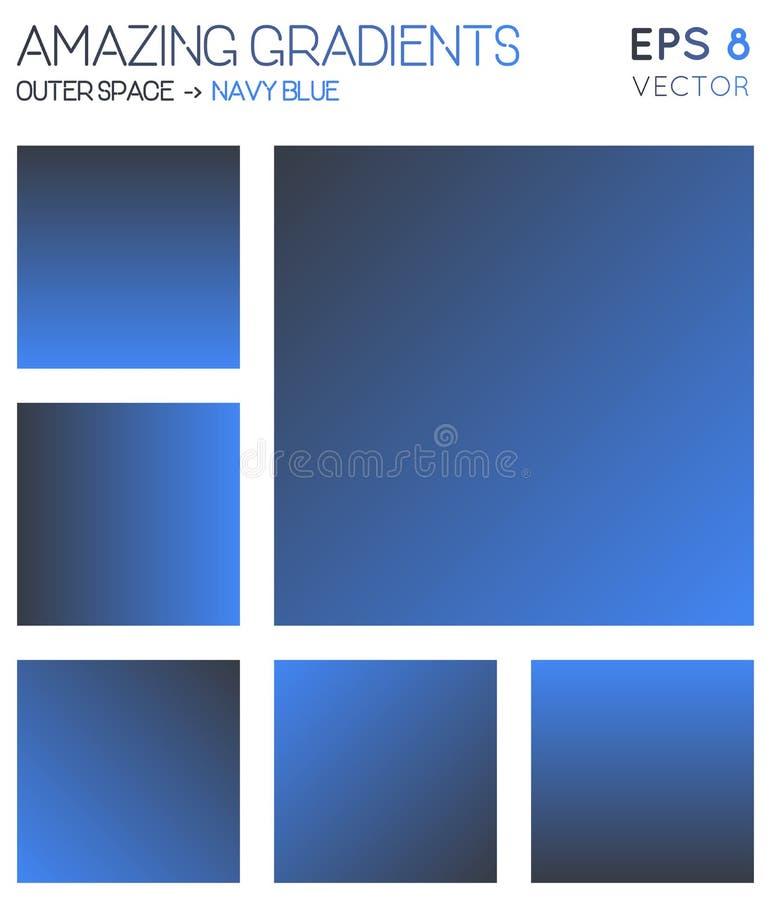 Pendenze variopinte nello spazio cosmico, blu navy royalty illustrazione gratis