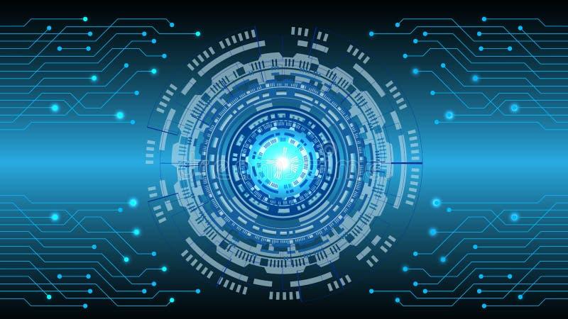 Pendiente azul de alta tecnología del extracto como fondo ilustración del vector