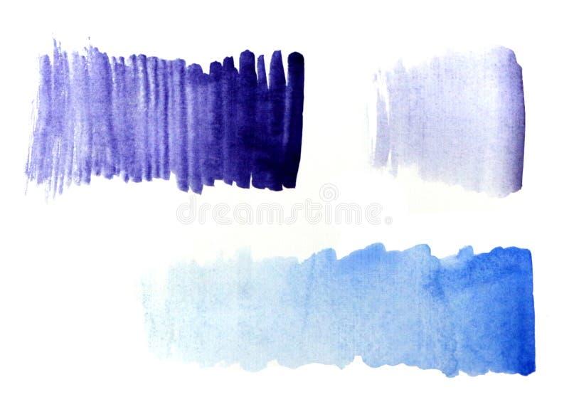 Pendiente azul de la pendiente púrpura ilustración del vector