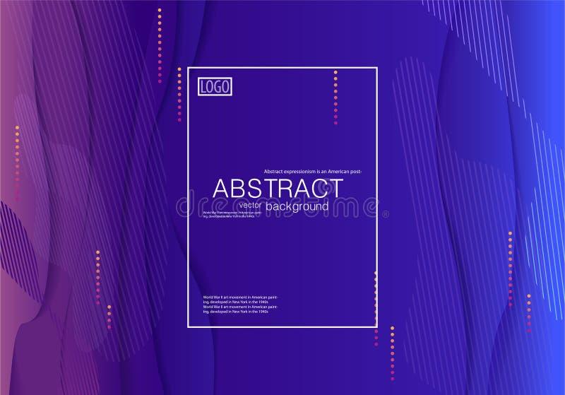 Pendiente azul del fondo moderno abstracto ilustración del vector