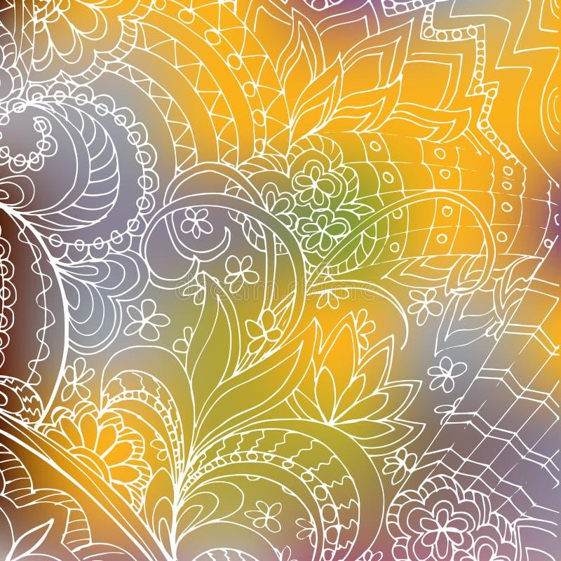 Pendiente blanca transparente del amarillo de la pendiente del zen ilustración del vector