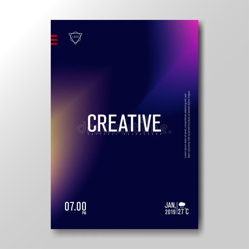 Pendiente borrosa flúida moderna con el fondo colorido suave para el cartel, tarjeta de la invitación, folleto, publicidad, carte stock de ilustración