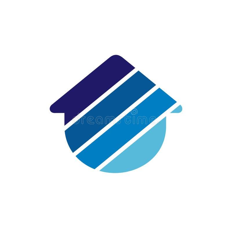 Pendiente casera de Logo Incorporated With Colorful Blue Icono abstracto del vector Emblema o Logo Template ilustración del vector