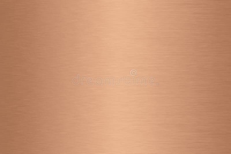 Pendiente cepillada de cobre del fondo del metal imagenes de archivo
