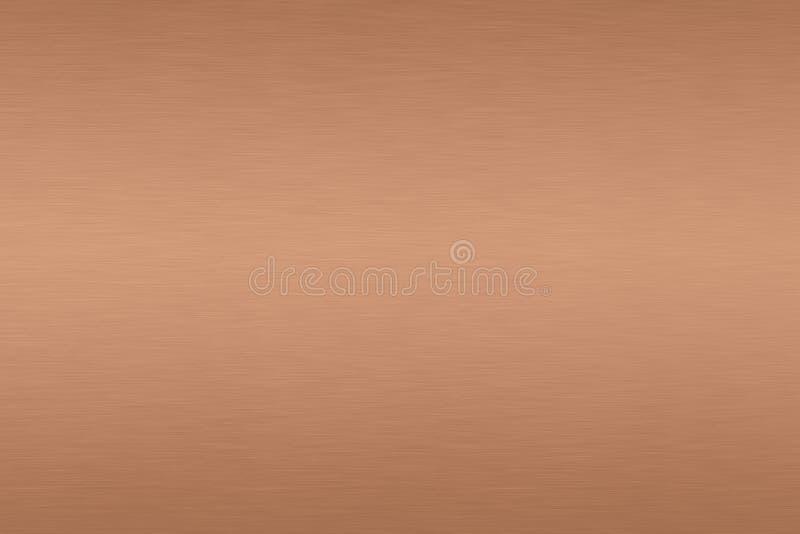 Pendiente cepillada de cobre del fondo del metal imágenes de archivo libres de regalías