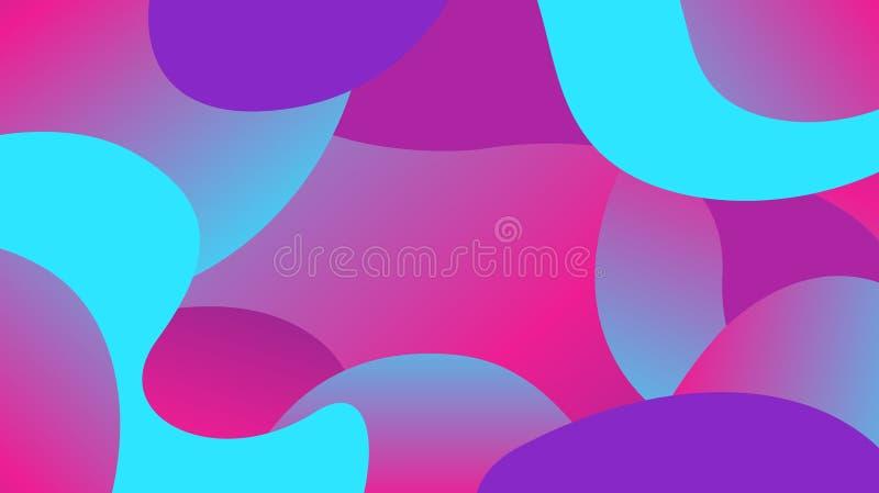 Pendiente colorida de las formas de la forma libre, endecha plana de la gota de la onda simple de la geometría, colores ondulados libre illustration