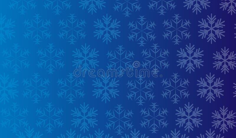 Pendiente de los copos de nieve de la textura del fondo ilustración del vector