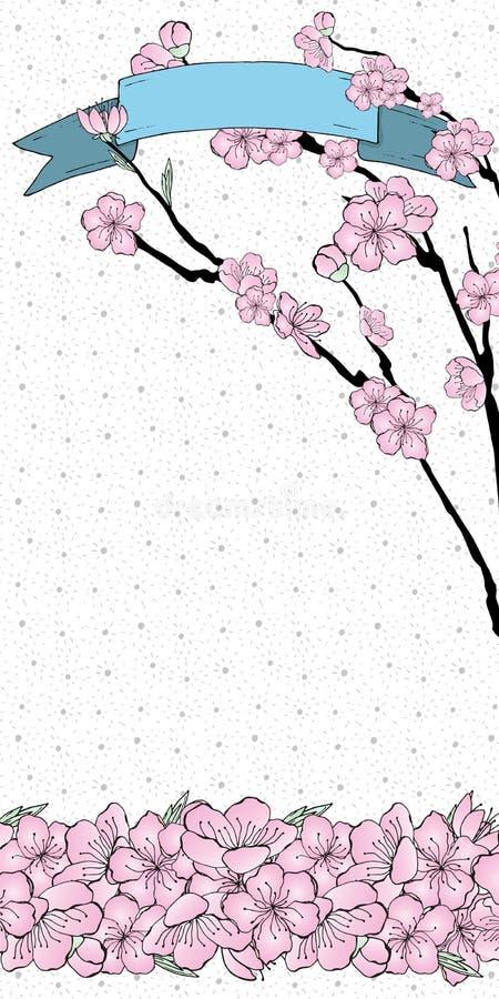 Pendiente de Sakura ilustración del vector
