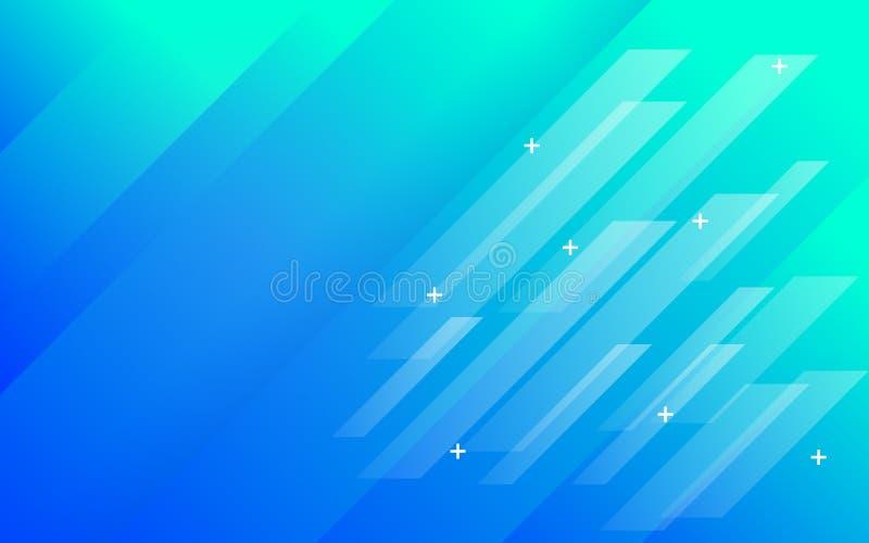 Pendiente verde azul del fondo del extracto con los paneles ilustración del vector