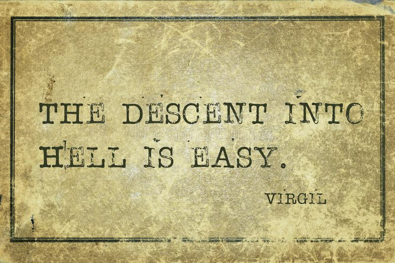 Pendiente Virgil imágenes de archivo libres de regalías