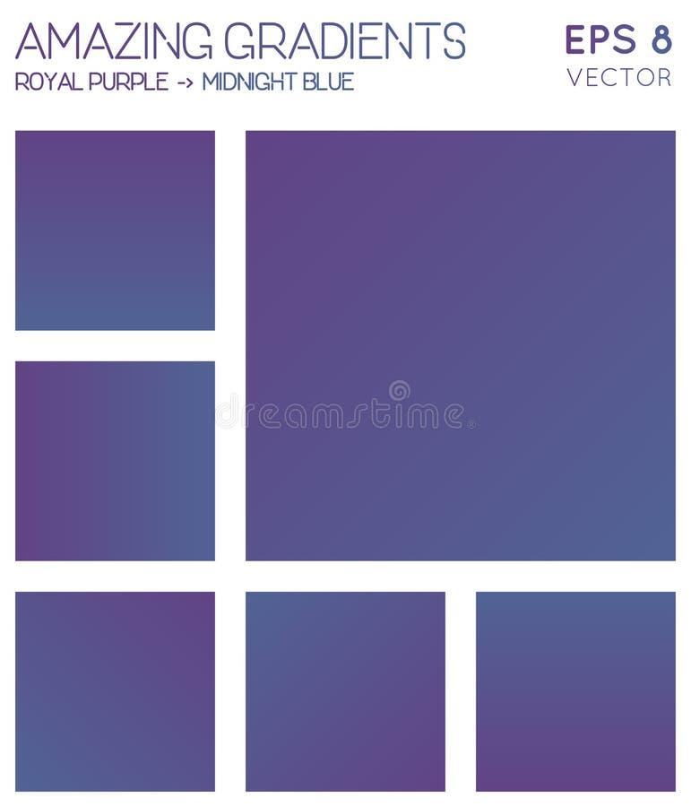 Pendientes coloridas en azul púrpura, de medianoche real ilustración del vector