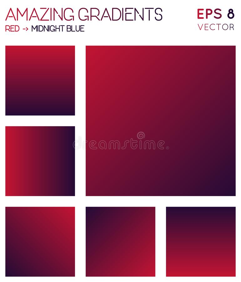 Pendientes coloridas en color azul rojo, de medianoche ilustración del vector