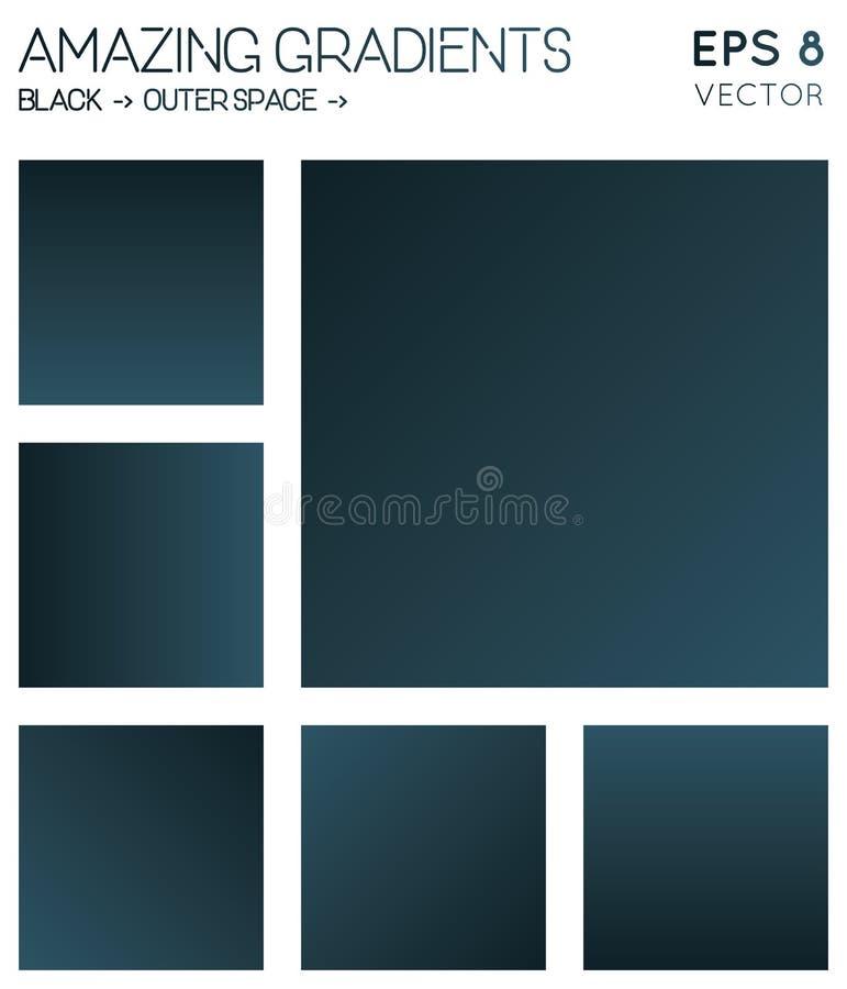 Pendientes coloridas en color del espacio negro, exterior stock de ilustración