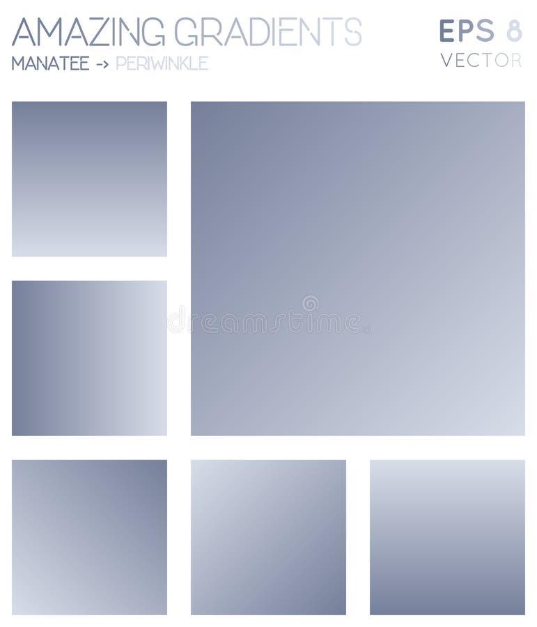 Pendientes coloridas en manatee, color del bígaro stock de ilustración