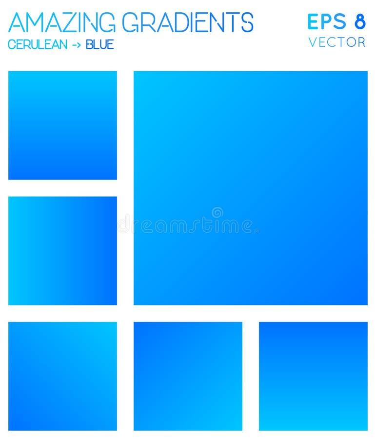Pendientes coloridas en tonos cerúleos, azules del color ilustración del vector