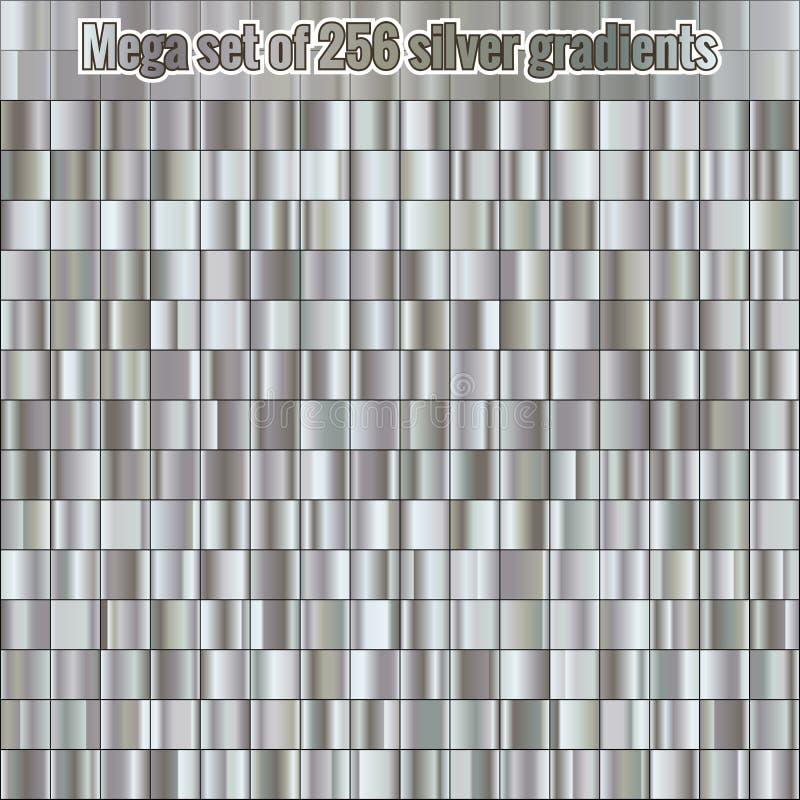 Pendientes de plata de la colección 256 del sistema que consisten en mega Textura metálica Fondo brillante EPS 10 libre illustration