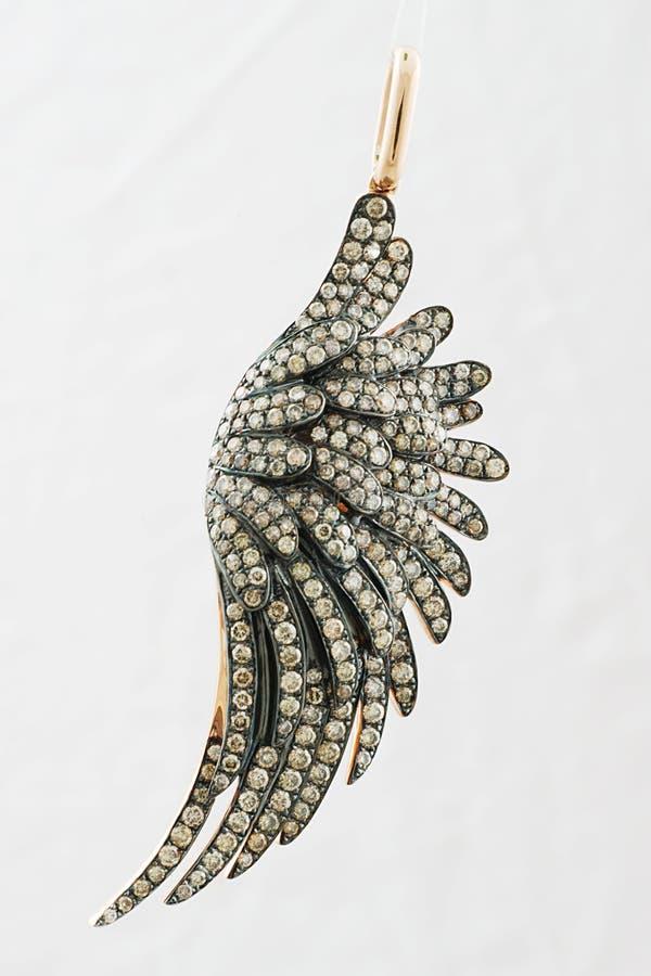 Pendientes en una forma del ala del pájaro fotografía de archivo libre de regalías