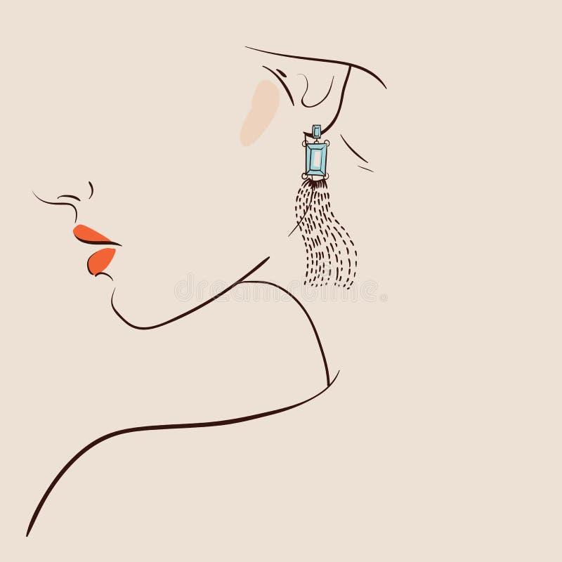 Pendientes que llevan de la mujer hermosa Dress2 ilustración del vector