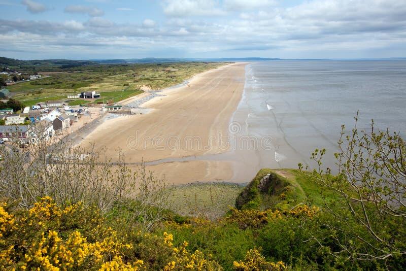 Pendine schuurt strand Wales stock fotografie