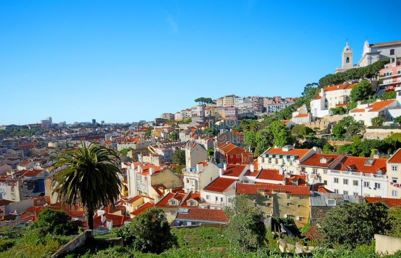 Pendio di collina di Lisbona Portogallo fotografia stock libera da diritti