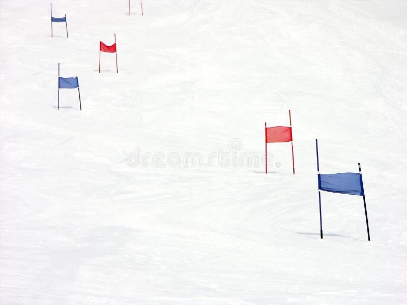 Pendio di collina di slalom fotografie stock libere da diritti
