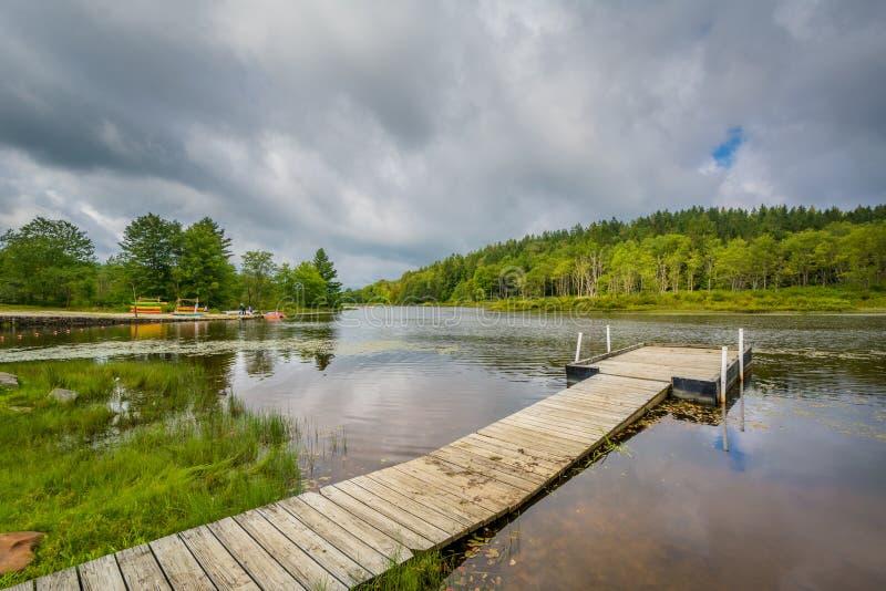 Pendleton jezioro przy Blackwater, Spada stanu park, Zachodnia Virginia obraz stock