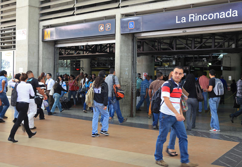 Pendolari a Caracas, Venezuela immagini stock libere da diritti