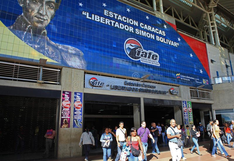 Pendolari a Caracas, Venezuela immagine stock