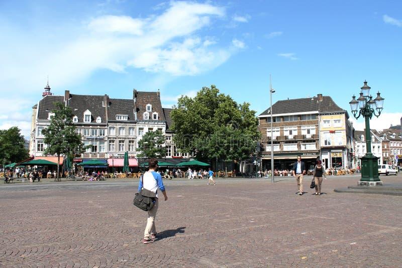 Pendolari a Maastricht fotografia stock libera da diritti