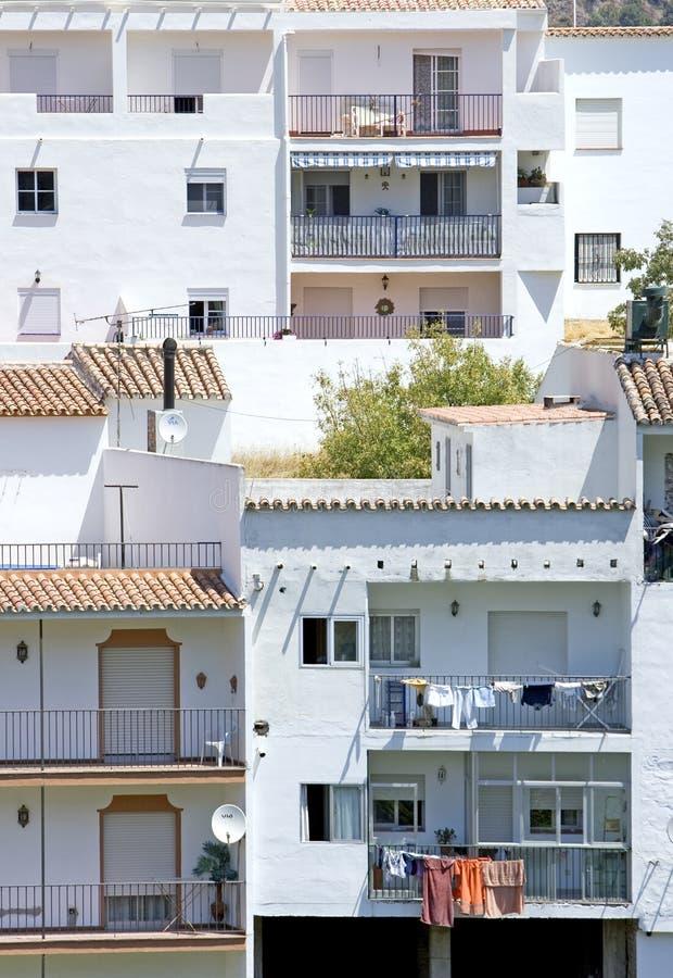 Pendre de lavage des hublots en Espagne images libres de droits