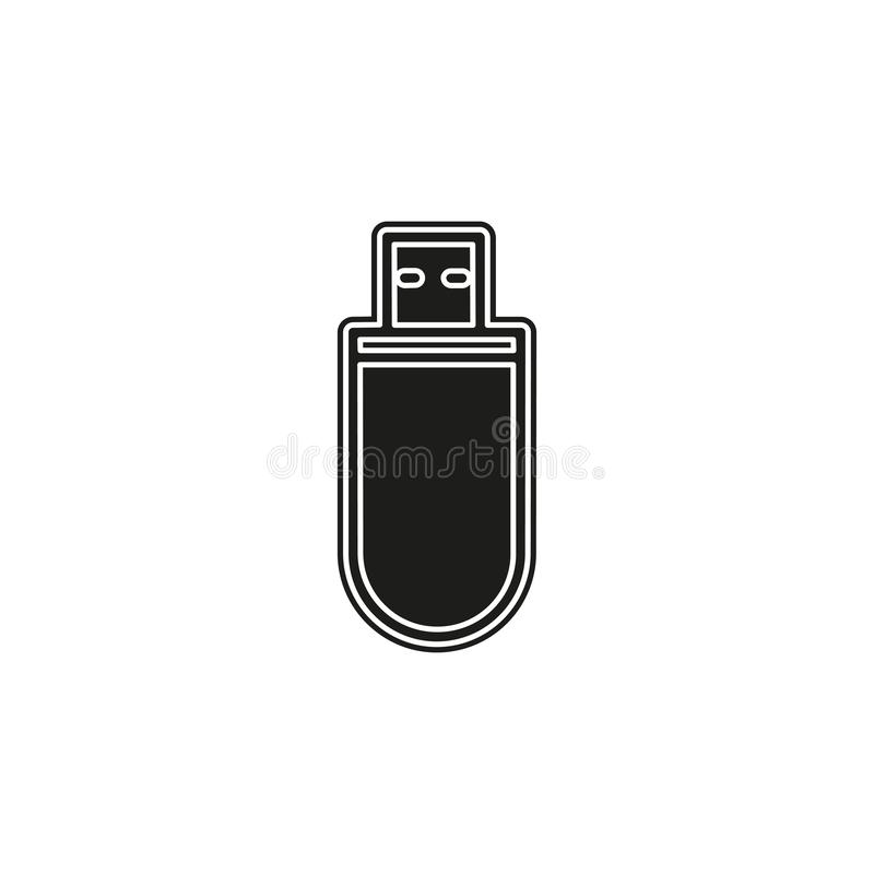 Pendrive sign illustration, usb icon - technology connection symbol. Pendrive sign illustration, usb icon vector - technology connection symbol. Flat pictogram royalty free illustration