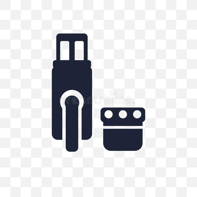 Pendrive transparent icon. Pendrive symbol design from Electronic devices collection. Simple element vector illustration. Can be vector illustration