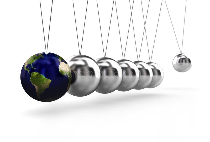 Pendule avec la terre illustration stock
